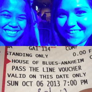 "My friend Jeri & me with our ""Pass the Line"" voucher, generously gifted to us!"