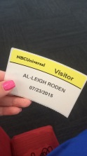 NBCUniversal Visitor's Badge