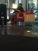 My really bad, not that sneaky picture of Gabriel Iglesias